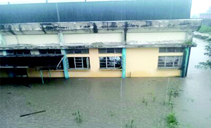 Chronicle Newspaper  Office  overflooded