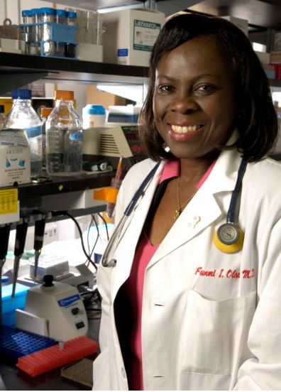 Olufunmilayo Olopade: led the research in identifying the genes causing inherited breast cancer in Nigerian women