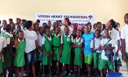 *Students of Ihiagwa Secondary School in Owerri West Local Government Area, during a career development seminar organised by Virgin Heart Foundation.