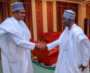 Buhari and new DG DSS Yusuf Bichi