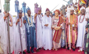 Ibadan kings installed by former Governor of Oyo State, Abiola Ajimobi