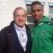 Rohr watches Nigeria forward Bazee against Wolfsburg