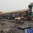 One dead, many injured as train derails in Lagos