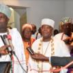 Buhari, Ooni, Yoruba monarchs meet in Aso Rock