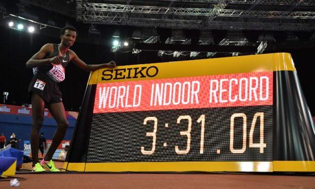 Ethiopian Tefera breaks world indoor 1500m record