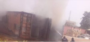 Photos: INEC card readers on fire in Anambra, officials flee 10