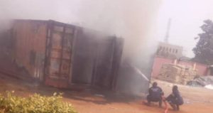 Photos: INEC card readers on fire in Anambra, officials flee 4