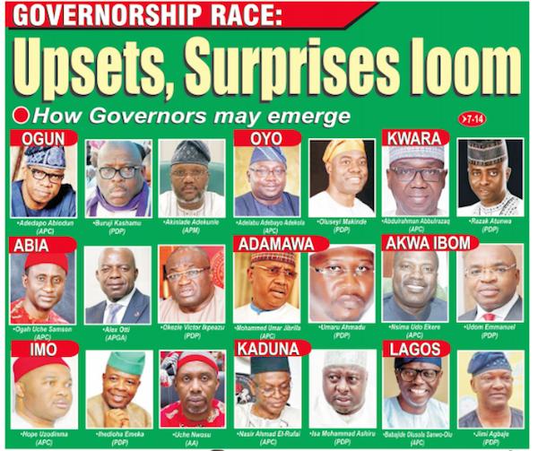 Governorship cabdiates
