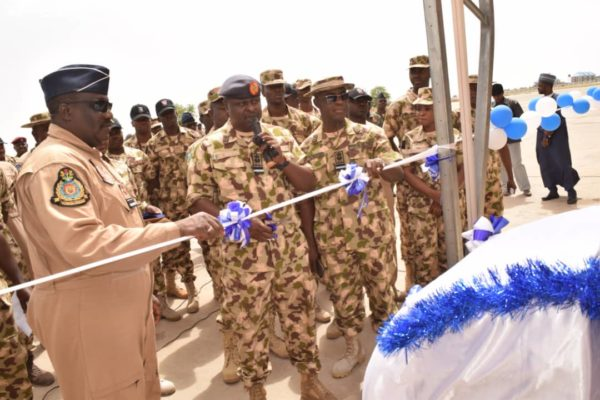 COMMISSIONS NEW AIRCRAFT SHELTERS IN MAIDUGURI