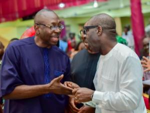 Drama as Obaseki, Ize-Iyamu drag families into campaigns