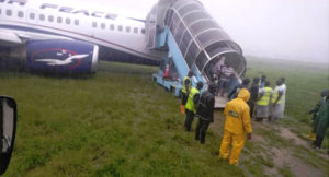 Nigerian man runs out of bush, attempt to gain access into aircraft