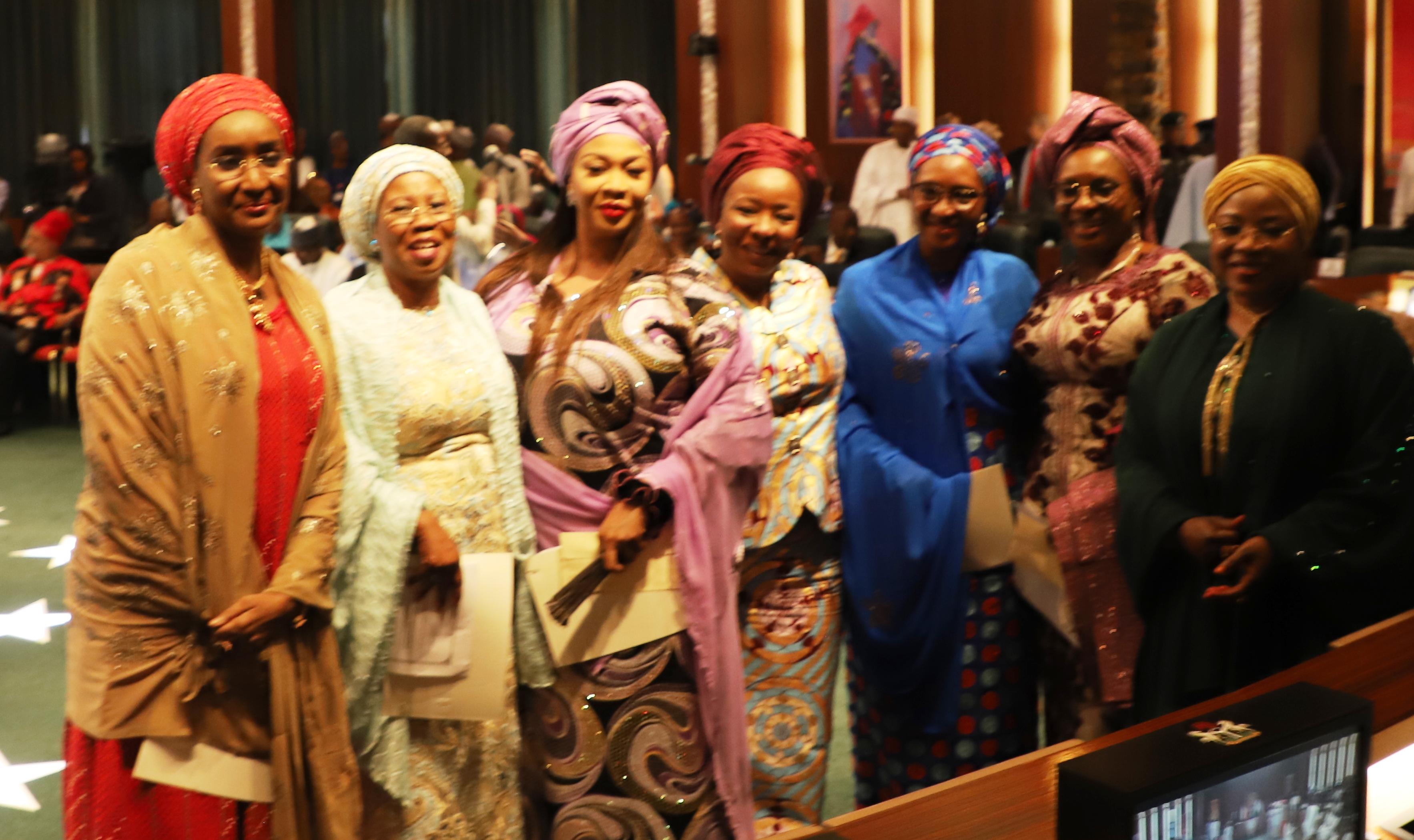 Buhari, women, ministers
