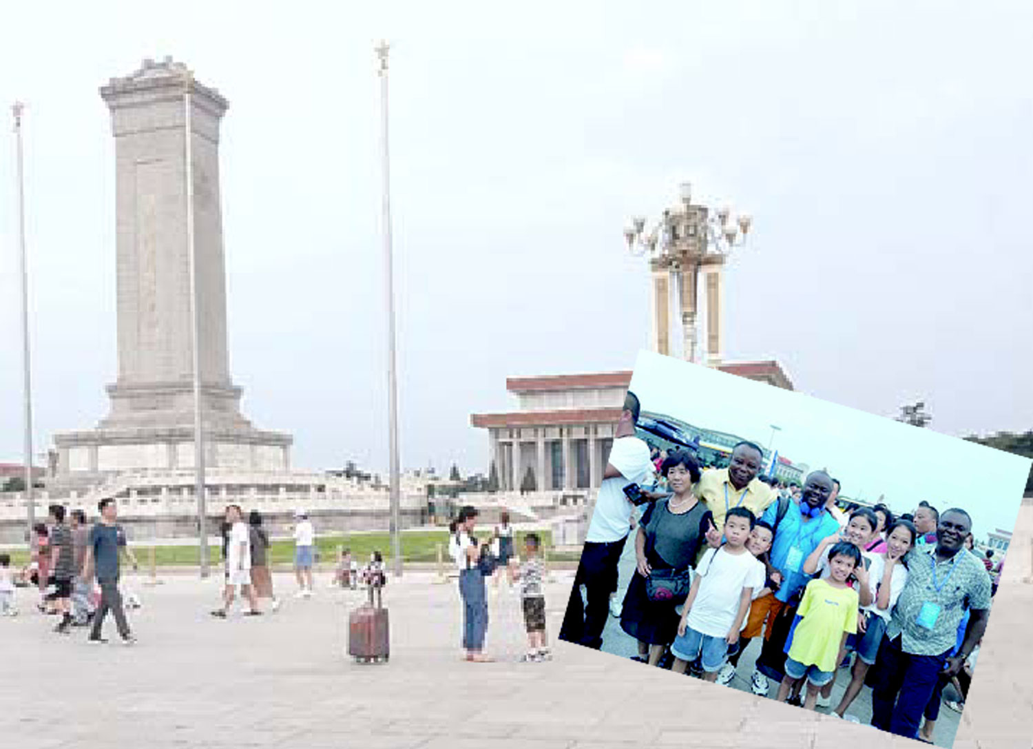 China, Mobbed at Tiananmen Square, stunned in China's Harbin