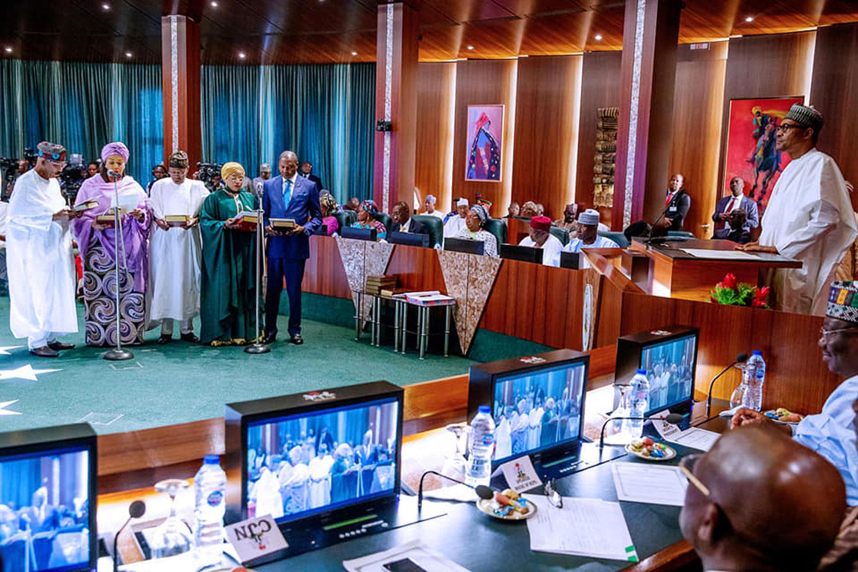 Buhari, minister, Fashola, Lai Mohammed,