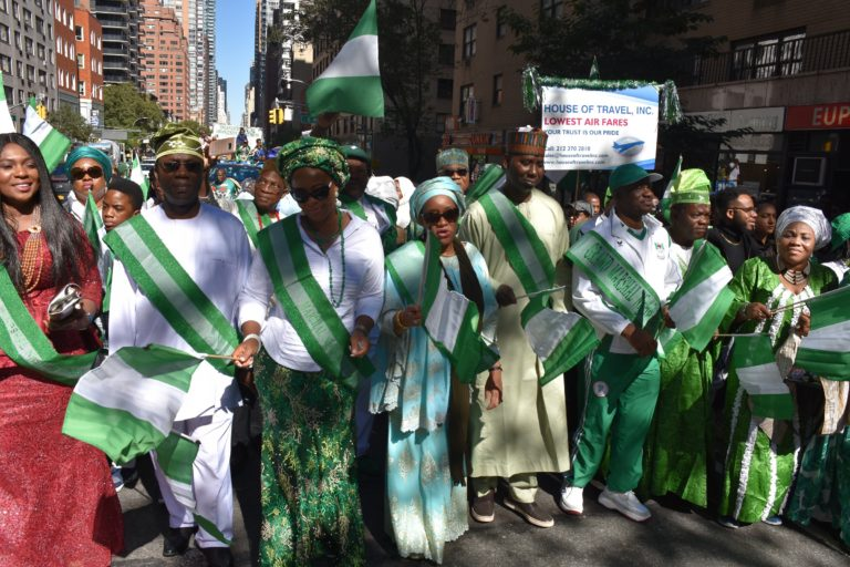 New York streets for Nigerian Independence Parade