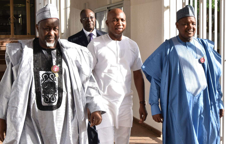 Buhari receives Lyon, Bayelsa Governor-Elect in Aso Rock