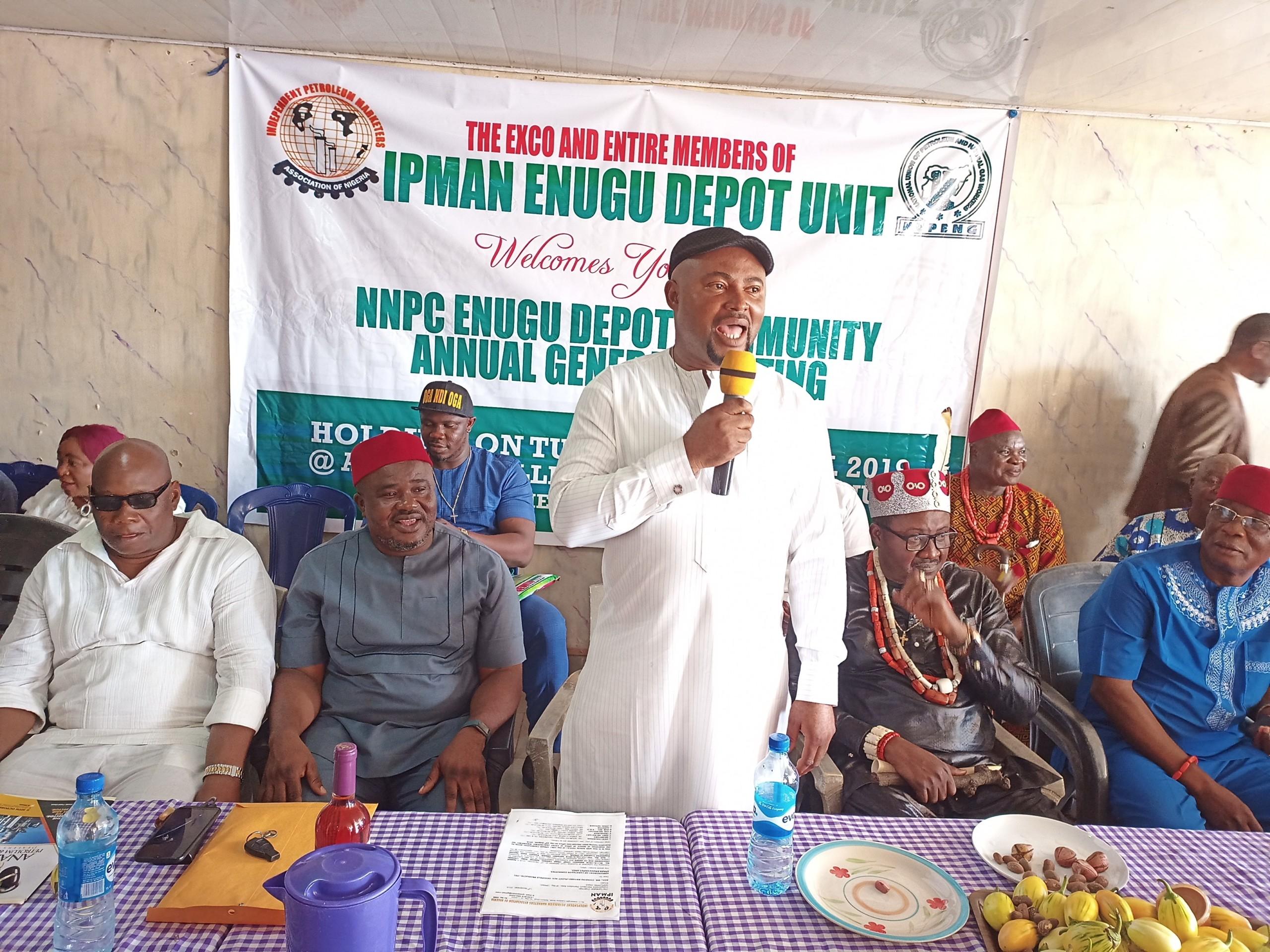 IPMAN, Enugu, NNPC Depot
