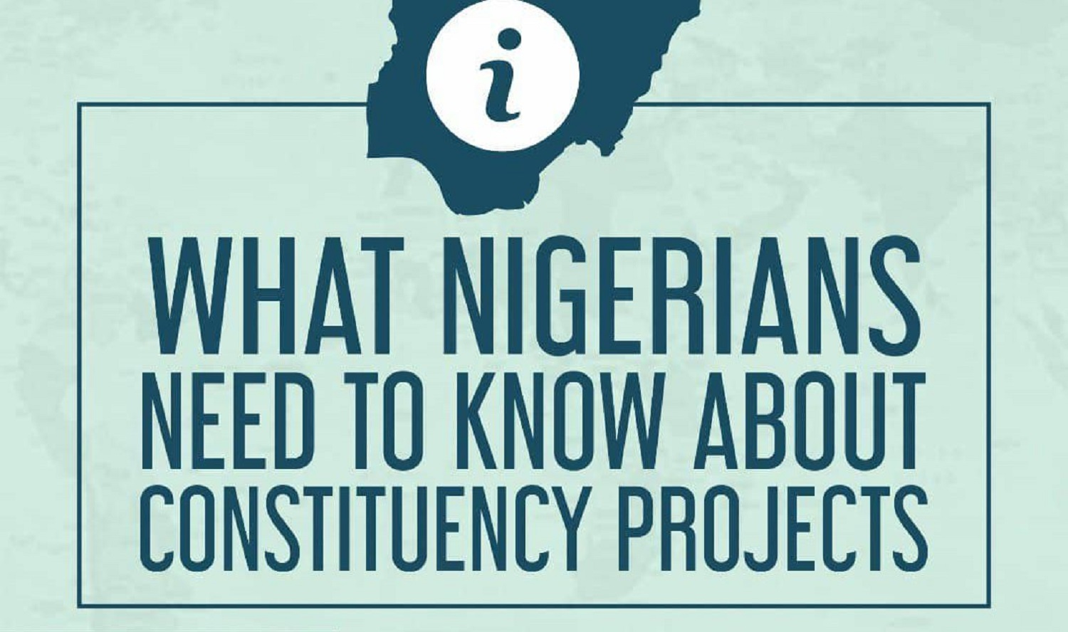 Constituency projects, presidency, agriculture, Senate, Buhari