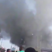 fire breaks out at Tejuosho Market, Yaba, Lagos (Video)