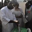 Photo: Yayaha Bello votes in Kogi election