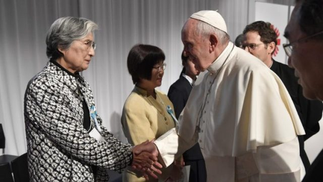 Pope meets Japan's 'triple disaster' victims
