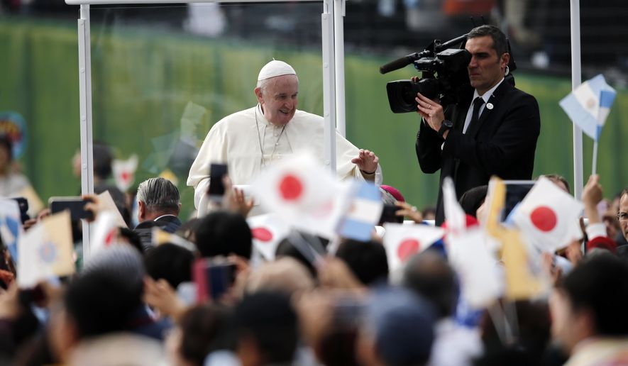 Pope Francis, Nuclear weapon, Japan