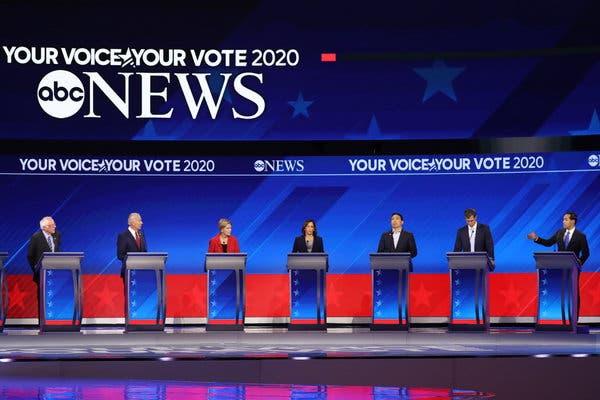 Democratic candidate, Debate, Labor dispute