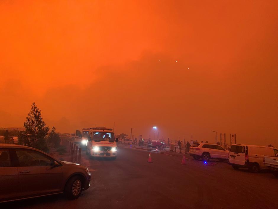 Australia, Beaches, Bushfire