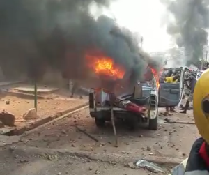 Ondo Police: Irate youths burn church over missing baby in Akure, 18/12/2019.