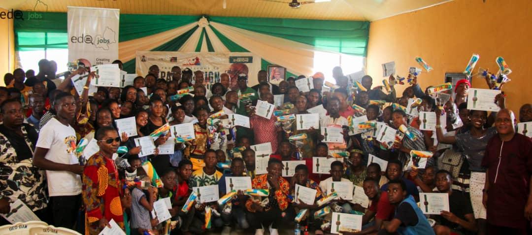 Obaseki's skills devt drive: Edojobs train 150 youths on paint design, production