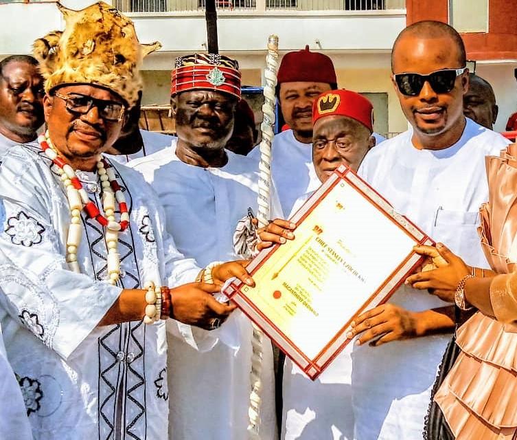 Alor Kingdom Honours Young Philanthropist Stanley Uzochukwu