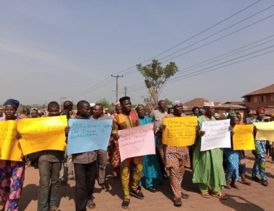 Ekiti community protests alleged herdsmen invasion