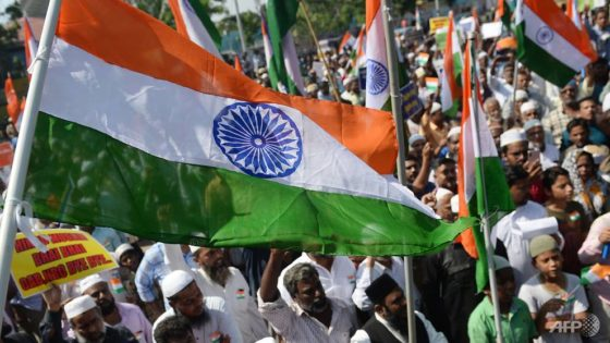 Indian Muslims wave national flag to show protest is not anti-India