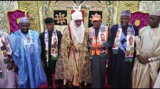 Ganduje, Emir Sanusi unite as Osinbajo visits Kano