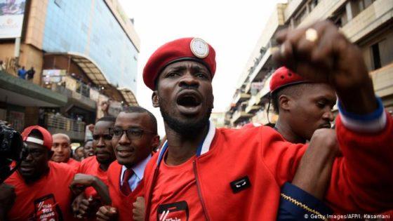 Uganda police disperse Bobi Wine supporters with tear gas