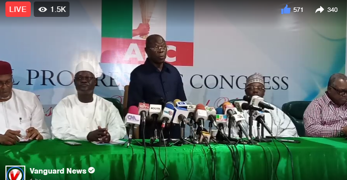 News Analysis: Is APC in middle of Constitutional crisis?
