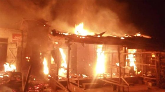 Early morning fire razes 13 shops at Kano Singer market