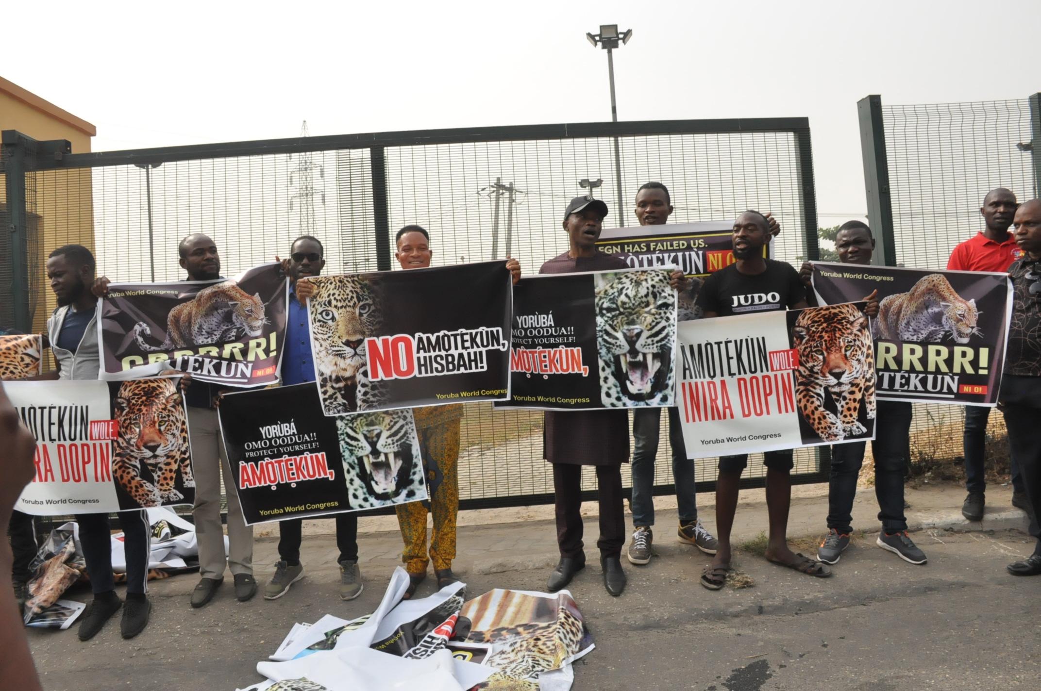 PHOTOS: Amotekun rally in Ojota Lagos