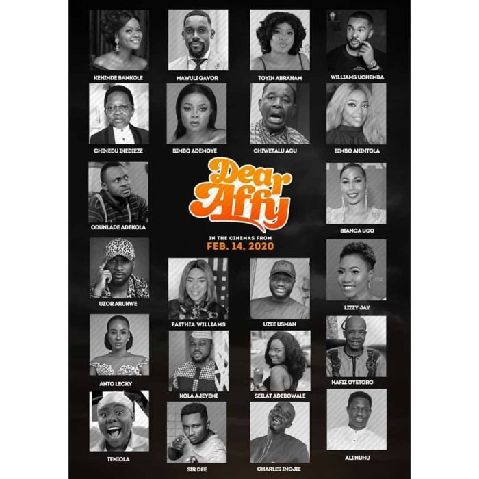 Nollywood's sexiest romantic comedy movie, Dear Affy, presents male cast