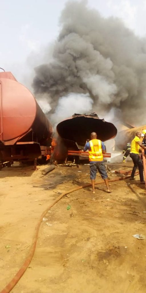 Welder killed as tanker explodes in Anambra