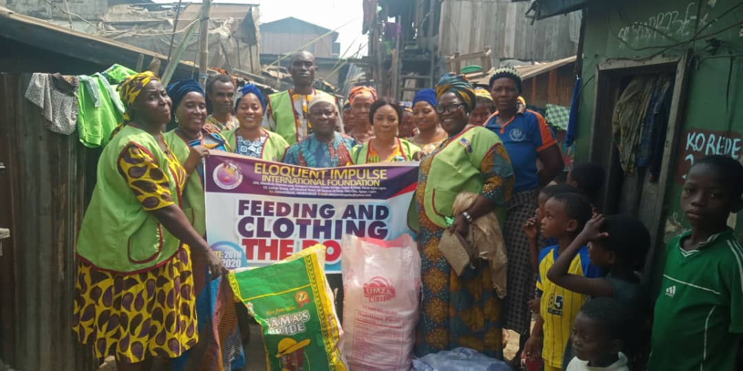 Photos: Foundation embark on feeding and clothing of the poor in Lagos