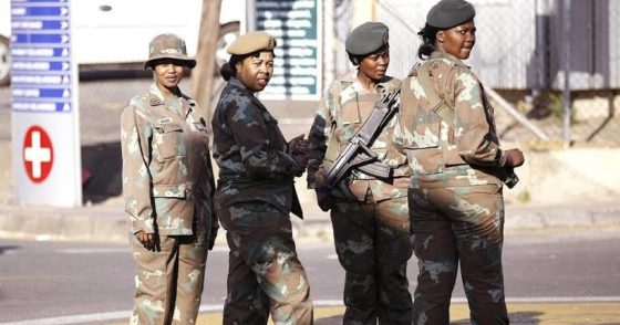 South African army drops 'defiance' charges against officer