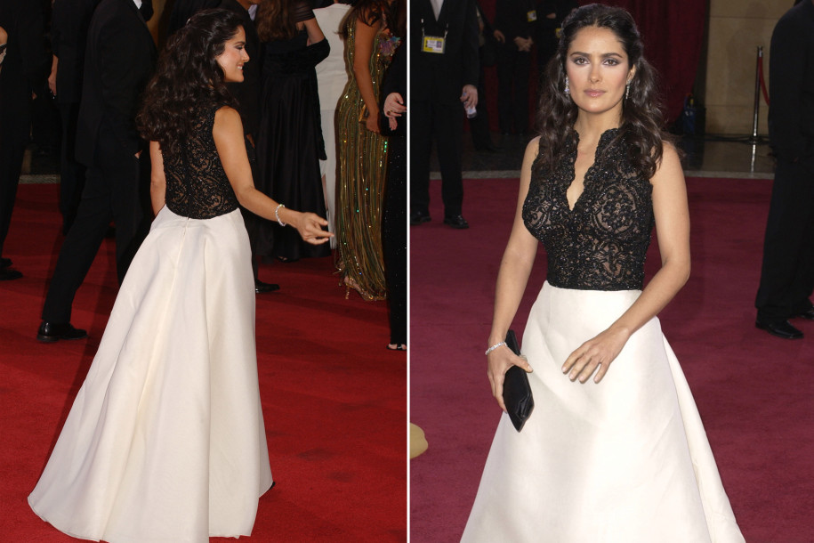 Salma Hayek, Dress, Oscars