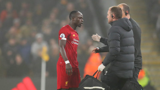Klopp confirms Mane went off with hamstring issue