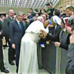JUST IN: Pope Francis kisses Nun in public