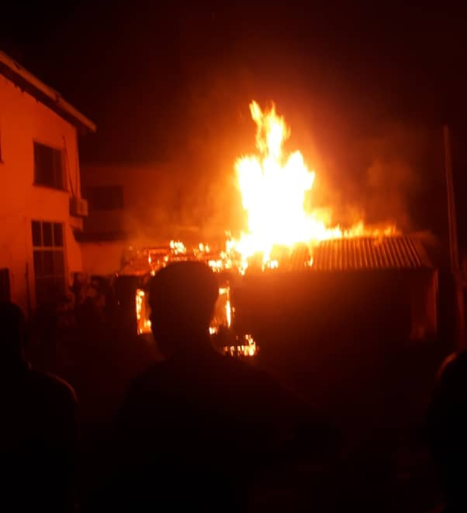 Fire guts illicit oil storage facility in Lagos