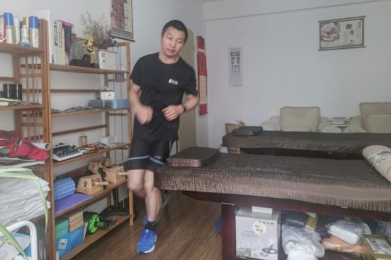 Man runs marathon in apartment as China fights virus with exercise
