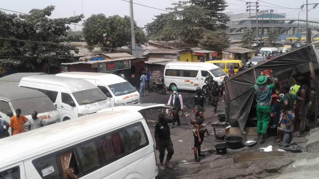 BREAKING: Taskforce begins demolition of illegal structures at Mile 2