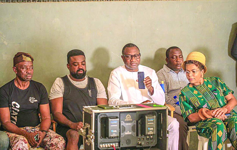 Femi Otedola Surprises Cast Crew Of Citation Movie Vanguard News