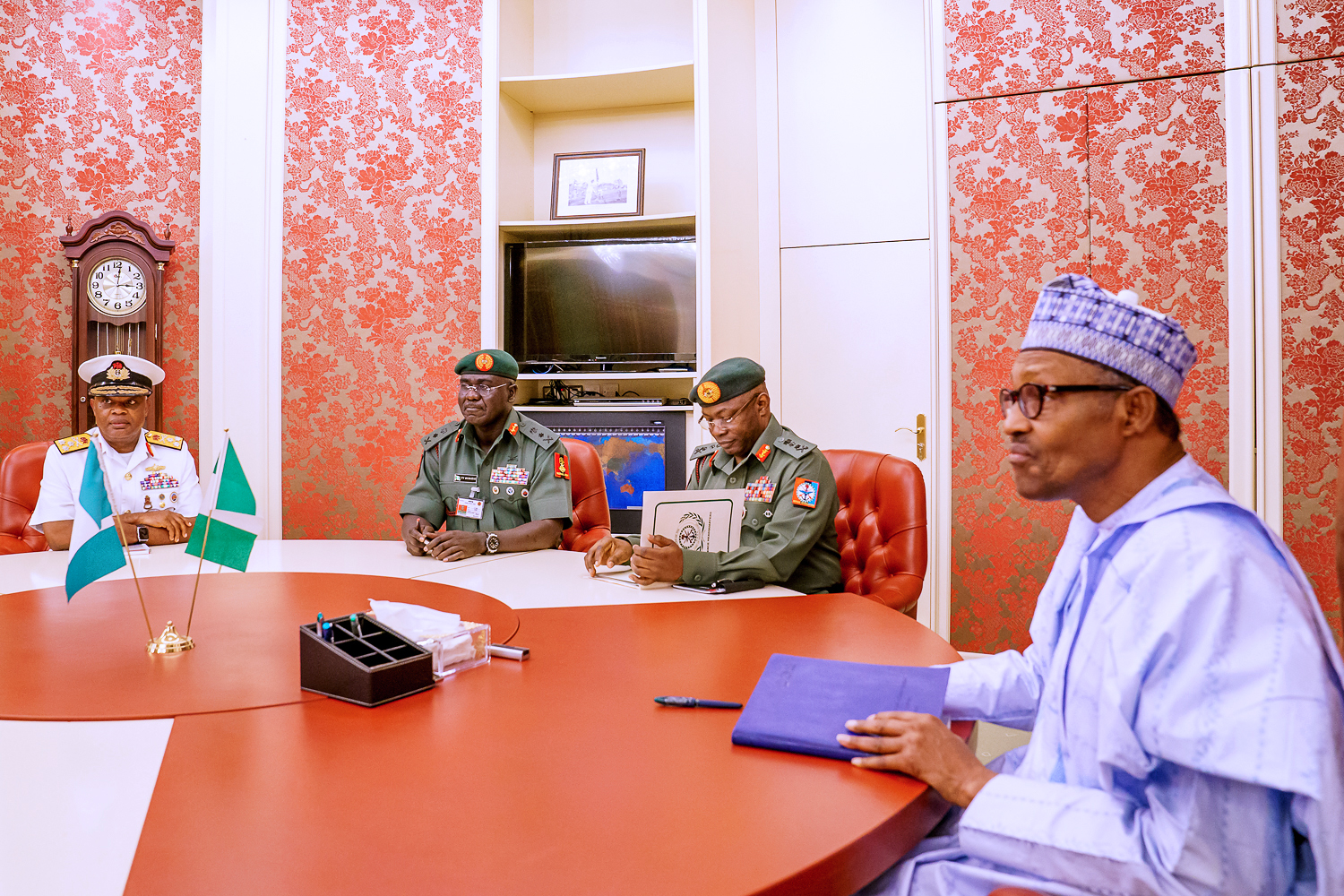 I will not accept any further escalation of insecurity, Buhari warns service chiefs